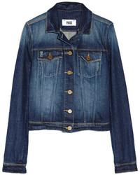 Veste en jean bleu marine Paige