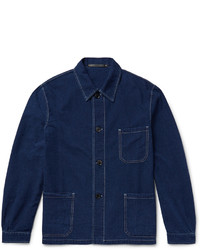 Veste en jean bleu marine Paul Smith