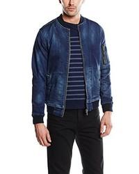 Veste en jean bleu marine Pepe Jeans