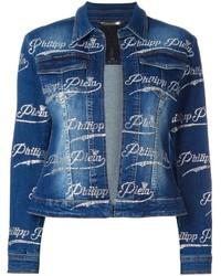 Veste en jean bleu marine Philipp Plein