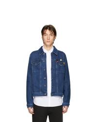 Veste en jean bleu marine Raf Simons