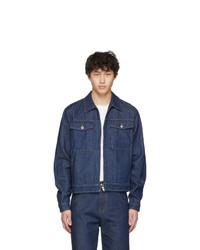 Veste en jean bleu marine Random Identities