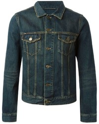 Veste en jean bleu marine Saint Laurent
