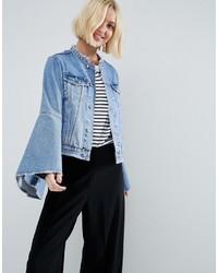 Veste en jean bleue claire Asos