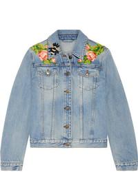 Veste en jean bleue claire Gucci