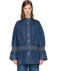 Veste en jean bleue marine Stella McCartney