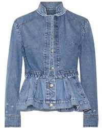 Veste en jean bleue Alexander McQueen