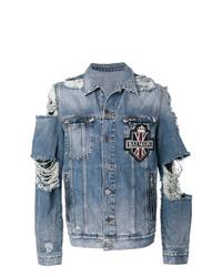 Veste en jean bleue Balmain
