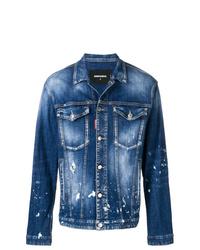 Veste en jean bleu DSQUARED2