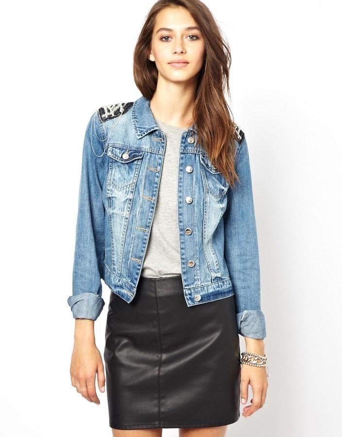 Veste en jean bleue Only