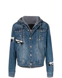 Veste en jean bleu Philipp Plein
