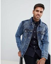 Veste en jean bleue Pull&Bear