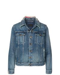 Veste en jean bleue Saint Laurent