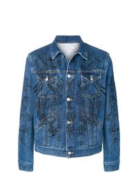 Veste en jean brodée bleue Givenchy