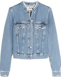 Veste en jean déchirée bleu clair Acne Studios