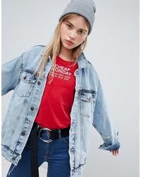 Veste en jean déchirée bleu clair Cheap Monday
