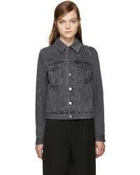 Veste en jean déchirée gris foncé Givenchy