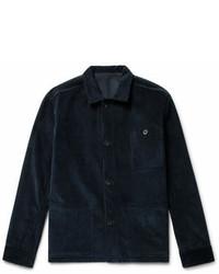 Veste en jean en velours côtelé bleu marine