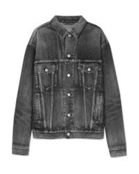 Veste en jean gris foncé Balenciaga