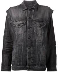 Veste en jean gris foncé R 13