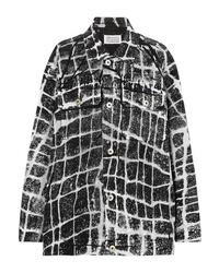 Veste en jean imprimée noire Maison Margiela