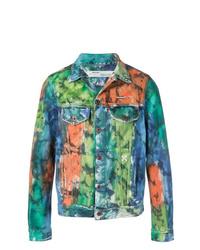 Veste en jean multicolore