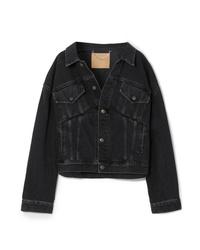 Veste en jean noire Balenciaga