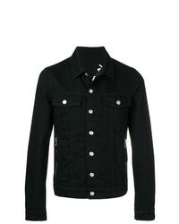 Veste en jean noire Balmain