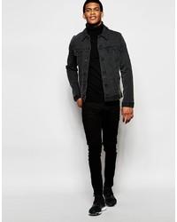 Veste en jean noire Asos
