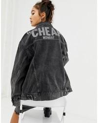 Veste en jean noire Cheap Monday