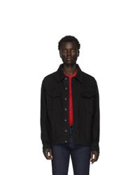 Veste en jean noire Fendi