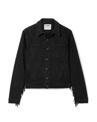 Veste en jean noire L'Agence