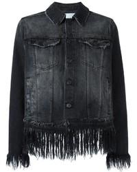 Veste en jean noire MSGM