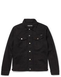 Veste en jean noire Tom Ford