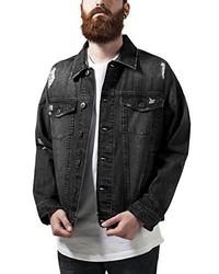 Veste en jean noire Urban Classics