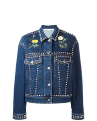 Veste en jean ornée bleu marine Stella McCartney
