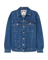 Veste en jean ornée bleue Moschino