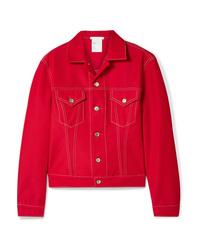 Veste en jean rouge Helmut Lang