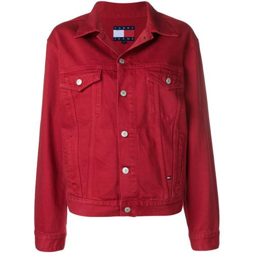 pas mal 56cf3 27ad3 €75, Veste en jean rouge Tommy Jeans
