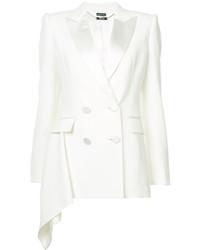 Veste en laine blanche Alexander McQueen