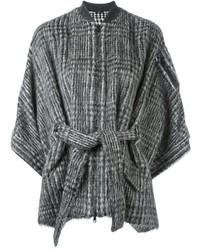 Veste en laine en pied-de-poule noire Brunello Cucinelli