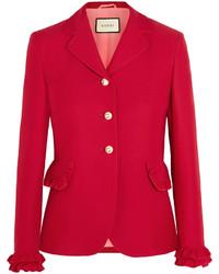 Veste en laine rouge Gucci