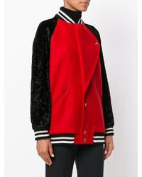 Veste en laine rouge Lanvin