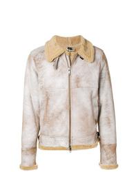 Veste en peau de mouton retournée beige