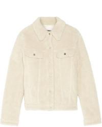 Veste en peau de mouton retournée beige MM6 MAISON MARGIELA