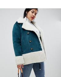 Veste en peau de mouton retournée bleu canard Current Air Plus