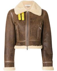 Veste en peau de mouton retournée brune Givenchy