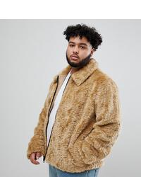 Veste en peau de mouton retournée marron clair ASOS DESIGN