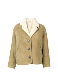 Veste en peau de mouton retournée marron clair Isabel Marant Etoile