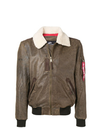 Veste en peau de mouton retournée marron Alpha Industries